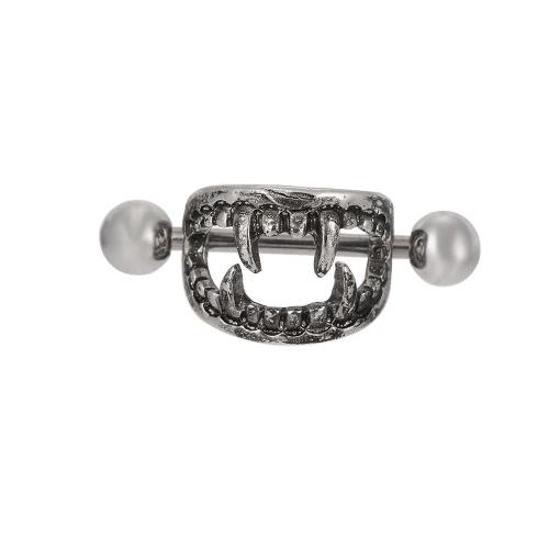 Aço inoxidável com bico do peito Bar Anel Barbell Sexy Escudo Body Piercing jóias para homens e mulheres