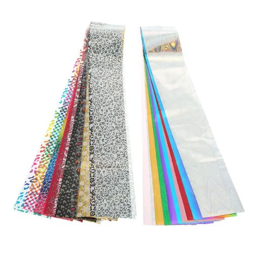 30 cores Transferência prego adesivos Nail Art Foils Adesivo DIY Nail Decoração Dica Nail Sticker Manicure Decoração Ferramenta