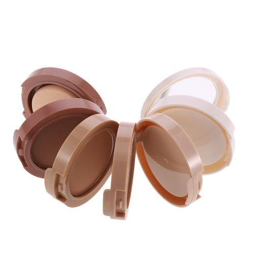 Ministar Concealing Powder 5 Colors Shading Powder Makeup Face Contour Foundation Powder 5 in 1 Cosmetic Powder With Puff