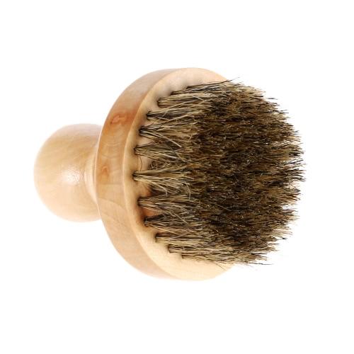 Shaving Brush javali cerdas da escova Barba Bigode dos homens escova de cabelo Facial bambu alça redonda