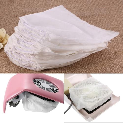 10Pcs Sacos de substituição não tecidos brancos para coletor de sucção de poeira de arte de unha Ferramentas de salão de beleza de uñas de alta qualidade