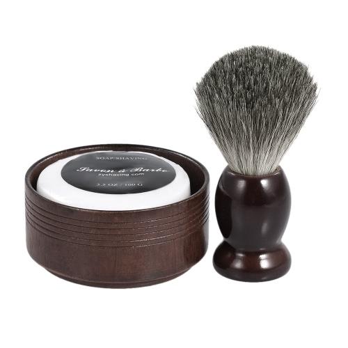 3 В 1 мужском бритвенном наборе для сухой или влажной бритвы для бритья для волос Щетка для волос + мыльная чаша + мыло для бритья для мужчин