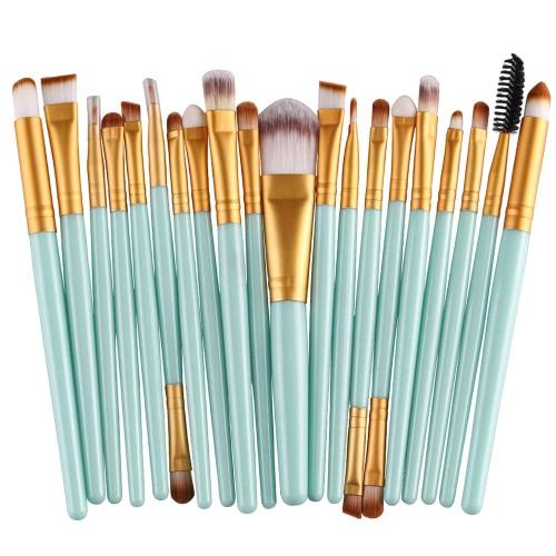 20PCSプロフェッショナルアイシャドウファウンデーションアイブロウリップブラシメイクブラシツールトイレタリーキットウールデザインPinceau Maquillage Professionnel