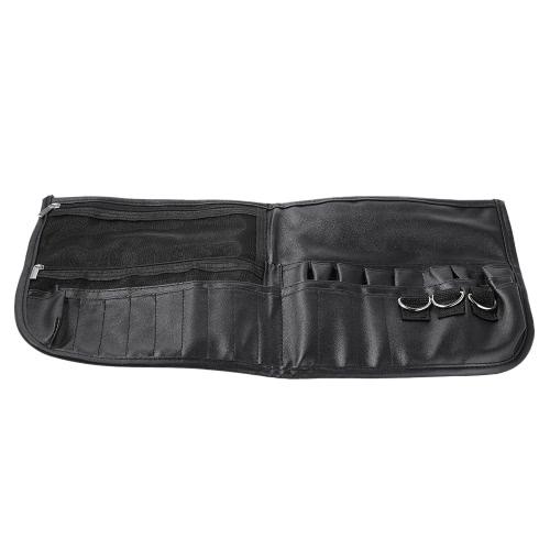 Cosméticos Maquiagem Brush Bag Professional Travel Cosmetic Bag Makeup Brush Case Organizer com cinto Strap