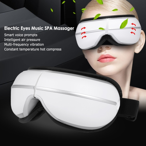 Eyes SPA Massager Electric Music Air Heating Pressure Vibration Foldable Wireless Magnetic Massage Therapy Device