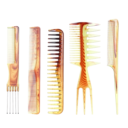 5 Stücke Haarkamm Haarschneide Kamm Salon Haar Styling Kamm Breite Zähne Schwanz Kamm Antistatische Friseur Pinsel