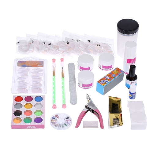 Kit de ferramentas para ferramentas de unha profissional Nail Pen Clipper Glue Acrílico Liquid Powder File Forms Cup Decoration Salon DIY