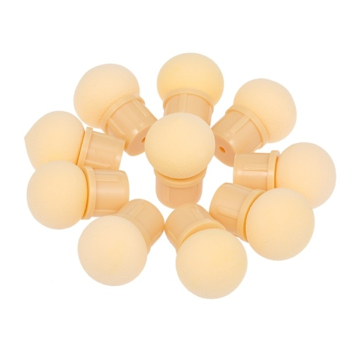 10 Unids Reemplazables Cabezas de Esponja Redonda para Manicura Gradiente Blooming Brush Shade Maker UV Gel Pulidor de Uñas de Arte Herramientas
