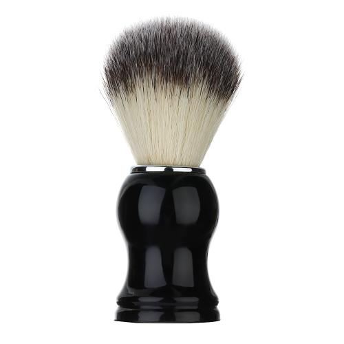 1pc Nylon raspar o bigode escova homens segurança barbeiro barbear escova alça preta barbear masculino dom Set barba cuidados faciais da ferramenta de limpeza