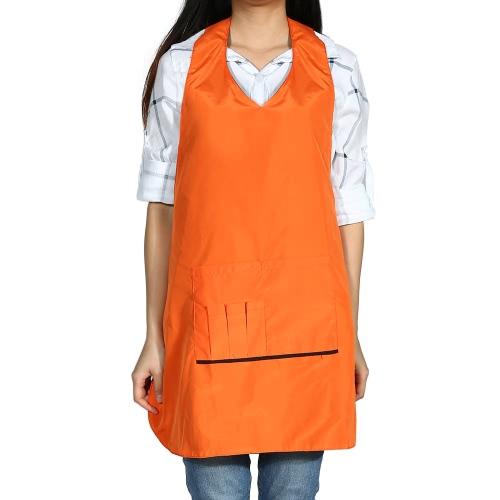 髪床屋防水理髪布毛切断岬ポリエステル ・綿シャンプー布オレンジの理髪サロン エプロン