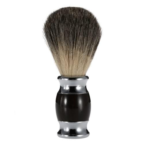 Texugo puro profissional barbear navalha escova punho de madeira cabelo corte escova barbeiro salão homens Facial barba aparelho barbear ferramenta de limpeza