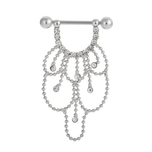 Сосков Бар кольцо Штанга Sexy Висячие из нержавеющей стали Щит пирсинг ювелирные изделия для мужчин & женщин