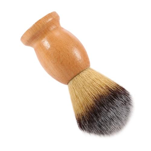 Men's Nylon Shaving Brush Wood Handle Facial Shaving Tool Shaving Brush for Razor Male Face Cleaning Brush W3478