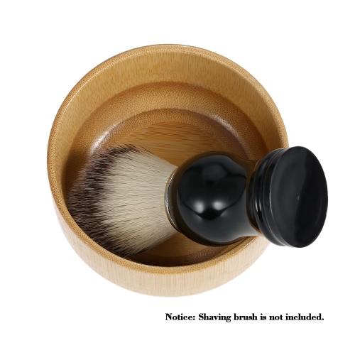 Taza de herramientas Jabón Jabón de afeitar taza de la taza de bambú Cuenco Cuenco Barbero Barba Razor Copa cara masculina de limpieza de afeitado de la Copa de los hombres