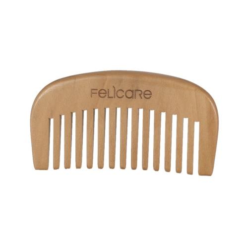 Hombres de la barba del bigote peine peine de oro sándalo Hombre facial peine del pelo de la barba Peluquero Profesional Peine