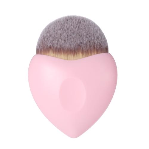 Женская пудра Основа Кисть Профессиональная нейлоновая макияж Кисть Круглая косметическая румяна Кисть Сердце Форма Розовый