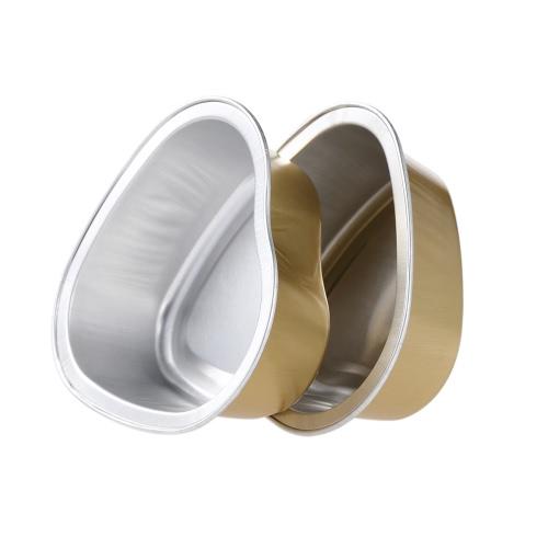 10Pcs 30g Funda de cera de fusión forma reutilizable del corazón de aluminio Hoja de rollo de película Cera dura depilación depilación Bean Bowl