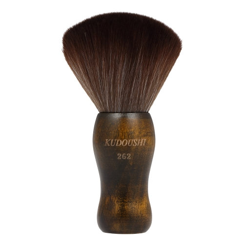 KUDOUSHI Professional Largr Hair Cutting Neck Duster Cepillo de mango de madera