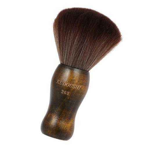 KUDOUSHI  Professional Largr Hair Cutting Neck Duster Wooden Handle Brush