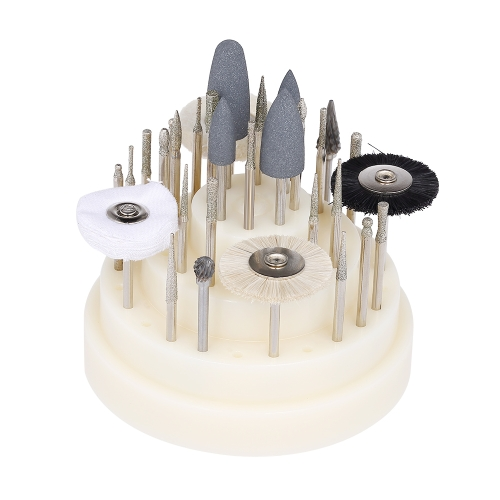 40 Unids Dental Bur Nail Drill Bit Cepillo Dental con 48 Agujeros Stand Container Displayer Nail Dental Accesorio