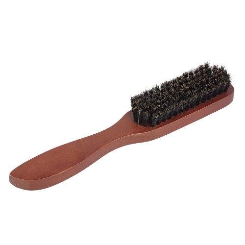Cepillo de barba de hombres Cepillo de bigote de madera Cepillo de afeitar masculino Cepillo de pelo multifuncional