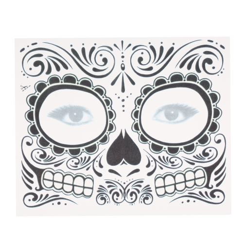 Temporäre Tattoo Sticker Narben Terror Halloween Blumen Muster Augen Gesicht Sticker Make-up Bühne