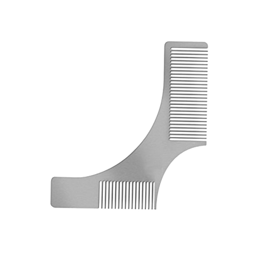 Stainless Steel Beard Comb Beard Shaping Brush Beard Styling Comb Template Grooming Kit Facial Hair Trimmer for Jaw Line Cheek Neck Goatee W6528