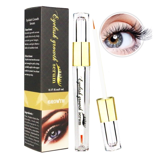 Suero de crecimiento de pestañas Avanzado Cultivador de pestañas para pestañas y cejas más densas y espesas Maquillaje de ojos