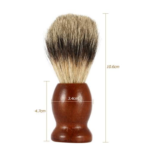 Male Badger Shaving Brush Blaireau Brush with Wood Handle for Razor Men's Facial Badger Hair Brush Facial Clean Tools for Beard Brown W738
