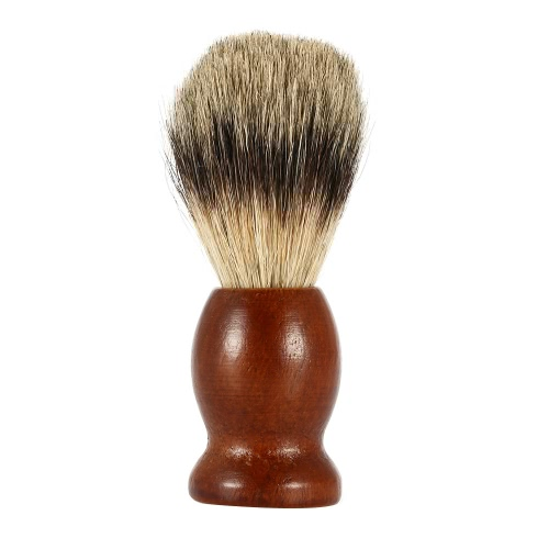 Blaireau tejón masculino afeitado cepillo madera mango para tejón Facial cabello Facial limpia herramientas de brocha maquinilla de afeitar hombres para barba marrón