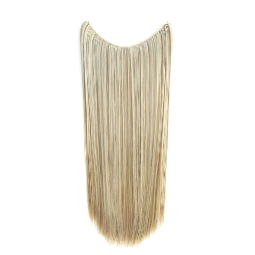 One Piece No Clip Hair Extensions Long Straight Hairpiece