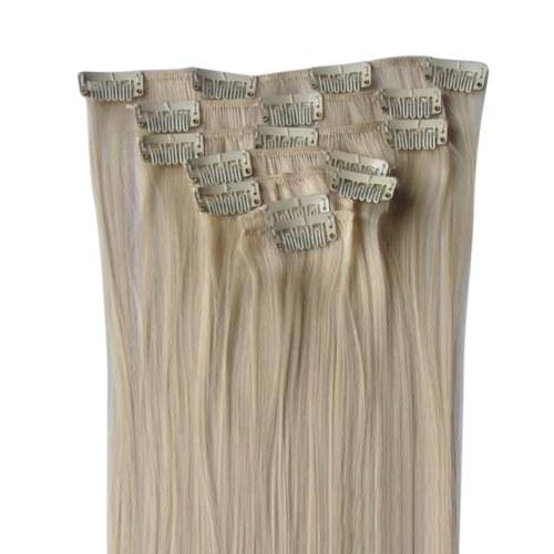 Postizo largo y recto para las mujeres Tijeras de fibra sintética