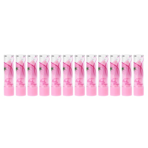 12Pcs Magic Color Lipsticks Strawberry Lip Balms Cosmetics Lip Makeup