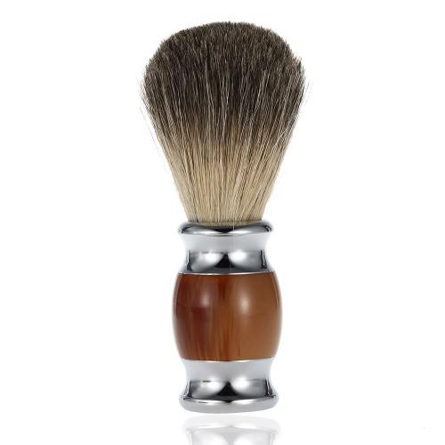 Profissional texugo puro cabelo corte escova punho de madeira barbeiro salão homens barba Facial limpeza aparelho barbear ferramenta pincel navalha de barba