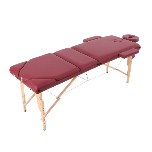 Abody 84''L portátil mesa de massagem 3 Fold SPA Facial cama ajustável Massage Therapy Bed Tattoo dispositivo Beauty Salon