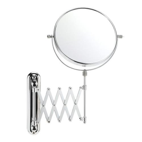 8 Inch ampliação 3x parede do banheiro Montada Esticável rotativo rodada dupla dupla Maquiagem Hanging Sided Barbear Espelho Cosmético para Family Hotel