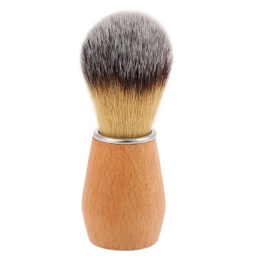 Нейлон Бритье кисти деревянной ручкой Парикмахерская помазок для лица чистки помазок Men помазок для бритья Бритва Мужской инструмент