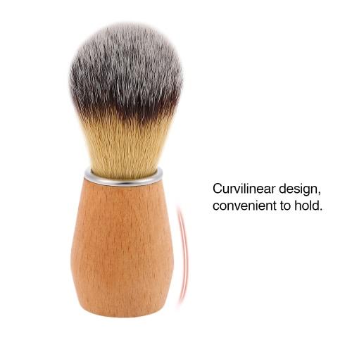 Nylon Shaving Brush Wood Handle Barber Shaving Brush Facial Cleaning Shaving Brush Men Shaving Brush For Razor Male Shaving Tool