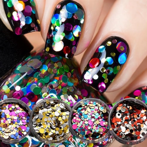 1 PC DIY Beauty-Nagel-Spitze Fertigkeit-Dekorationen Thin Nail Paillette Glitter Cosmetic Mode Nagellack-Aufkleber