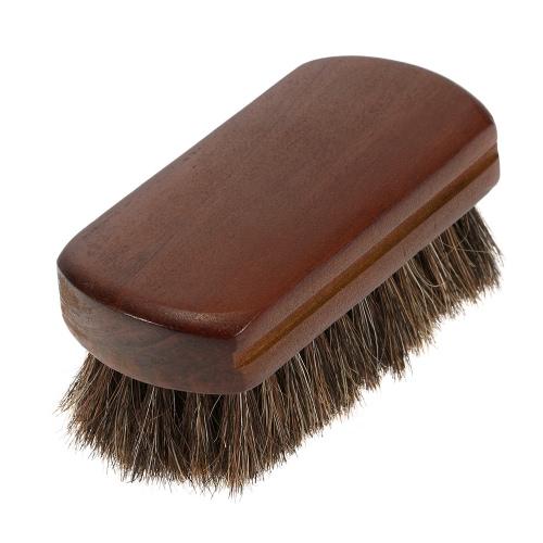 Facial Brush cheveux Barbe Brush Natural Horse Men Moustache Poils Blaireau manche en bois