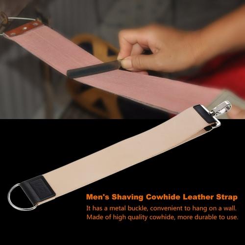 Pro Barber Мужское бритвенное кожаное ремешок Strop Belt Barber Straight Razor Strop Ясеневый заточка Бритвенный ремень Brown