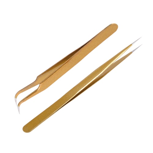 Straight & Curved Tweezers Nippers False Eyelash Extension Stainless Steel Pointed Clip Nail Art Nippers, TOMTOP  - buy with discount