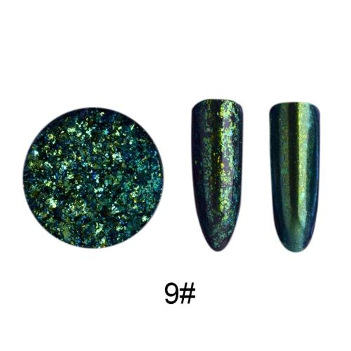 Nail Glitter Paillette Manicure Brocade Powder Прозрачные звезды зеркал Блестящие золотые блестки Порошковые украшения для ногтей