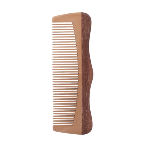 Anti Static Wooden Massage Comb Handmade Natural Peach Wood Comb Haircare Wooden Hairbrush