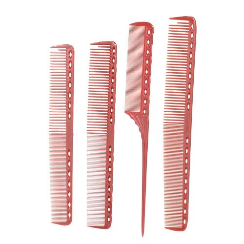 4 piezas profesional escala de pelo conjunto de peine salón de corte de pelo estilo medida peines cola peine cepillo de peluquería antiestático