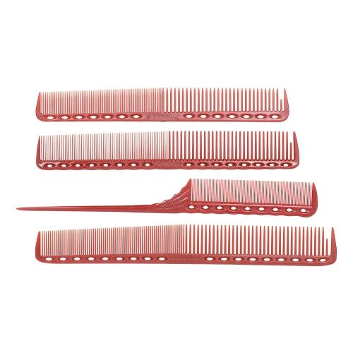 4 Stücke Professionelle Hair Scale Kamm Set Salon Haar Schneiden Styling Messen Kämme Schwanz Kamm Anti-Statische Friseur Pinsel