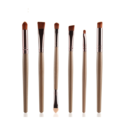 6Pcs Eye Eye бровей Макияж Eyeshadow Eyeliner Blending Sponge Crease Flat Brush Set