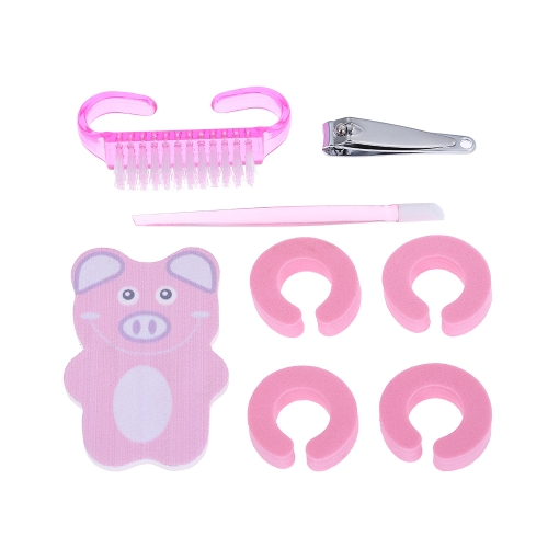 Professional Nail Art Set Manicure Tools Kit Nail File Toe Finger Separator Nail Cutter Dust Brush Manicure Tool
