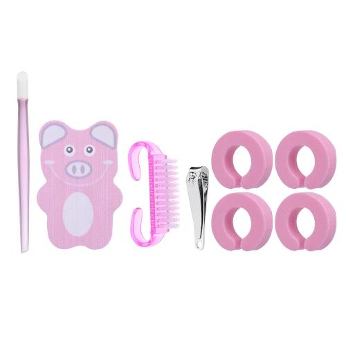 Kit profesional de herramientas de manicura kit de herramientas de uñas Kit de uñas dedo separador de uñas cortador de uñas cepillo de polvo herramienta de manicura