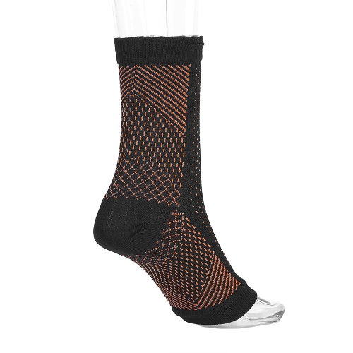1 Par Anti Fatigue Foot Sleeves Compression Relief Foot Sleeve Pie Tobillo Calcetines de Compresión Varicosa Pies Manga